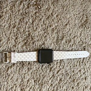 Authentic Gucci 42mm Apple Watch band